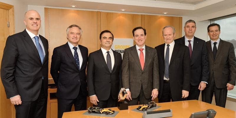 A MAPFRE intensificou seu acordo com a Renault como patrocinador da equipe de Fórmula 1