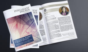 Elena Sanz has been featured in 'Intelligent Insurer' magazine as one of the sector's influential executives
