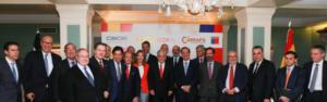 Antonio Huertas se reúne con el presidente de Chile, Sebastián Piñera