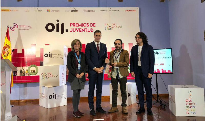 La Fundación, con la Organización de la Juventud para Iberoamérica reconociendo a los jóvenes talentos