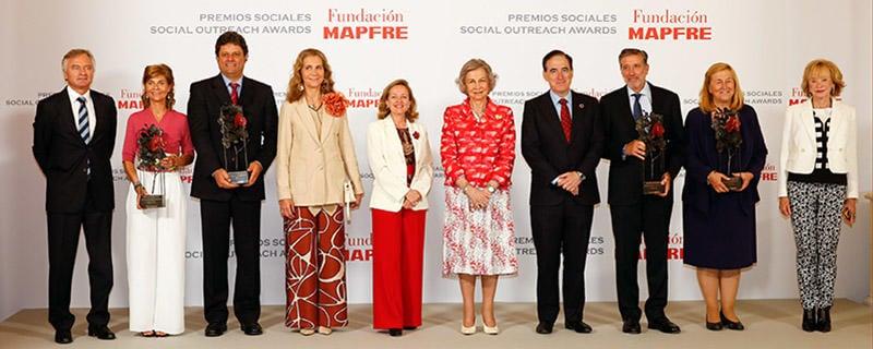 Su Majestad la Reina Doña Sofía preside la entrega de los Premios Sociales de Fundación MAPFRE
